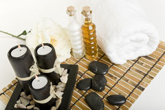 Spa & massage products Royalty Free Stock Photo