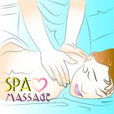 Spa massage relax Health sketch art Stock Image