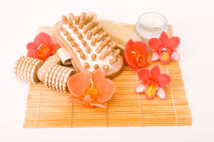 Spa Massage Set Royalty Free Stock Images