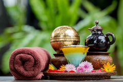 Spa massage setting Royalty Free Stock Image