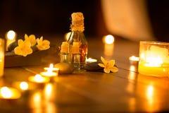 Spa massage setting Royalty Free Stock Photos