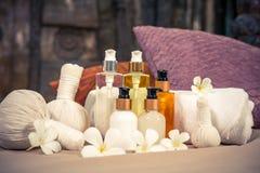 Spa massage setting Stock Images