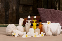 Spa massage setting Royalty Free Stock Images