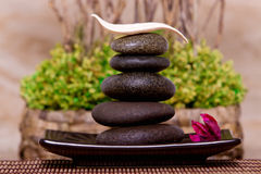 Spa and massage stones Stock Photos