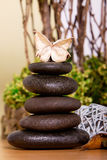 Spa and massage stones Royalty Free Stock Images