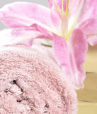 Spa massage towel Stock Images