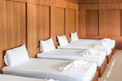 Spa massage treatment room. For anyuse Royalty Free Stock Photo