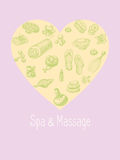 SPA and massage vector accessories set in the Royalty Free Stock Photo