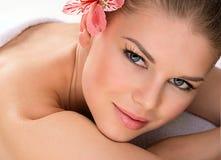 SPA massage woman Royalty Free Stock Image