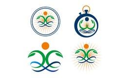 Spa Massage Yoga Health Set. Vector Stock Photo