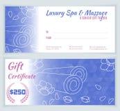 Spa massagepresentkortmall Royaltyfria Foton