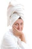 Spa mature woman Stock Image