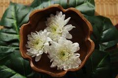 Spa med blommor Arkivbilder