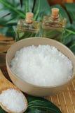 Spa med salt och olje- royaltyfri foto