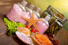 Spa minerals - aromatherapy Stock Photos