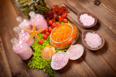 Spa minerals - aromatherapy Royalty Free Stock Photo