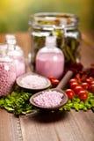Spa minerals - bath salt Royalty Free Stock Image