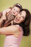 Spaß mit Mama Stockfoto