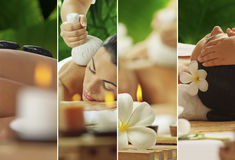 Spa mix. Spa theme  photo collage composed of different images Royalty Free Stock Photography