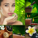 Spa mix. Spa theme  photo collage composed of different images Royalty Free Stock Photo
