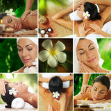 Spa mix. Spa theme  photo collage composed of different images Royalty Free Stock Image