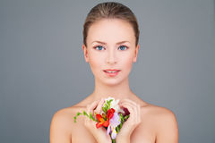 Spa Model WoSpa Woman Fashion Model with Healthy Skin Royalty Free Stock Images
