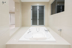 Spa in modern home stock photography