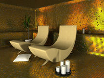Spa modern interior Royalty Free Stock Image