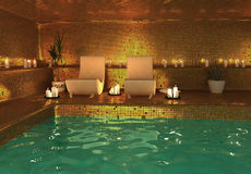 Spa modern interior Stock Images