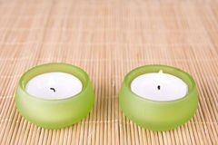 Spa motive with flowers and candle Stock Images