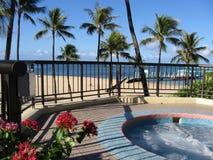 Spa nära stranden royaltyfria foton
