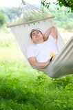 Spać na hamaku Obraz Stock