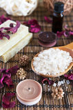 Spa with natural bath salt Stock Images
