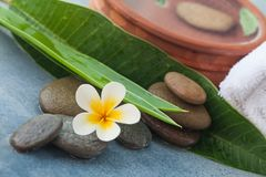 Spa natural composition with stones, towel royalty free stock images
