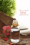 Spa natural setting with floral water Royalty Free Stock Image