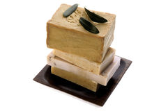 Spa. natural soaps and olive branch Stock Photo