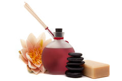 Spa objects for decor Royalty Free Stock Image