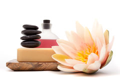 Spa objects for decor Royalty Free Stock Images