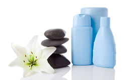 Spa objects and flower Stock Photo