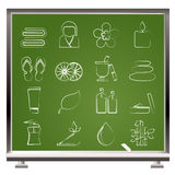 Spa objects icons Stock Photography