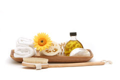 Spa Objects In Tray Stock Photo