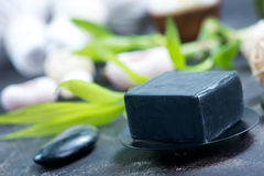 SPA objects. On a table, objects for massage Royalty Free Stock Images
