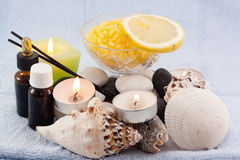 Spa objects to relax Royalty Free Stock Images