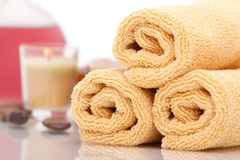 Spa objects on white background Royalty Free Stock Images
