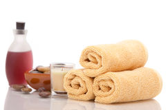 Spa objects on white background Royalty Free Stock Photo