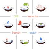 SPA och skönhetsymboler Royaltyfri Foto