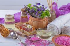 SPA och tillbehör för orientalisk massage Arkivfoton