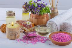 SPA och tillbehör för orientalisk massage Arkivfoto