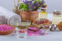 SPA och tillbehör för orientalisk massage Royaltyfri Bild