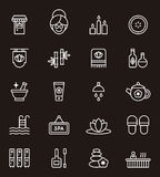 Spa och wellnesssymboler Royaltyfri Bild